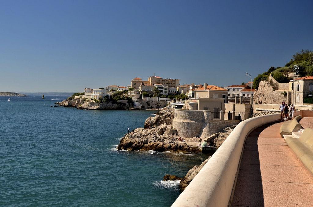 La corniche à Marseille