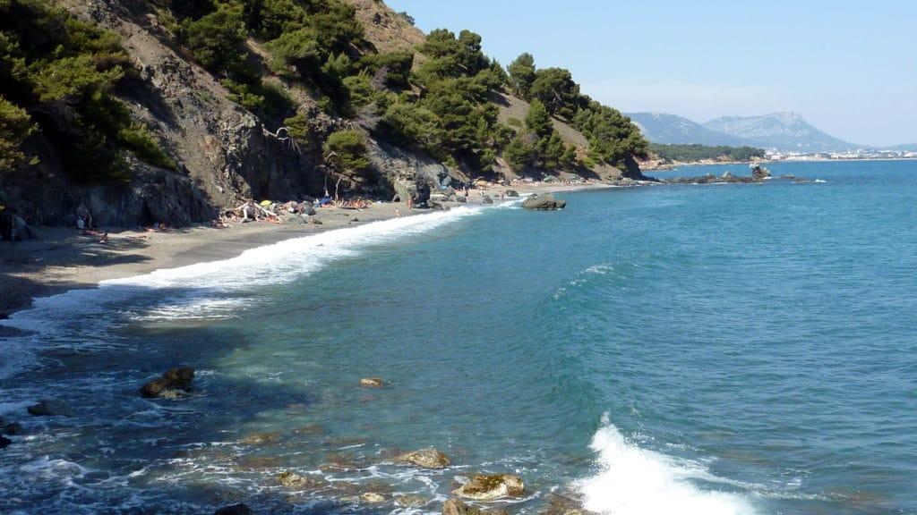 Les plages sur la Seyne sur mer